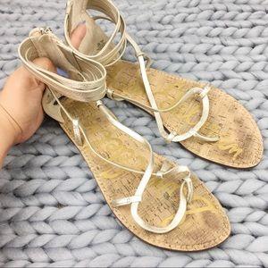 Sam Edelman Gold Ankle sandals shoes